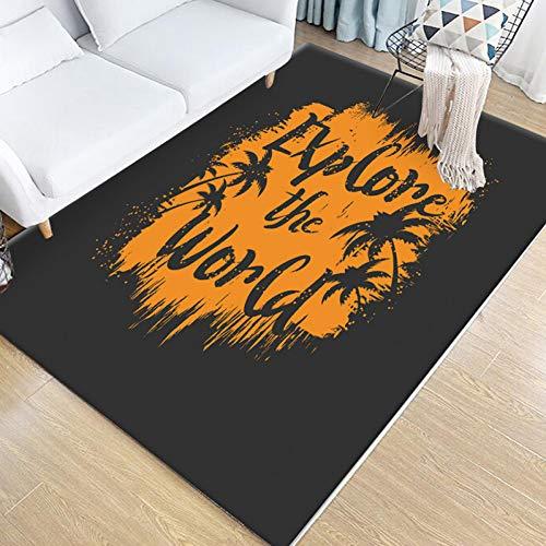 YUANMAKE Tapijt Woonkamer Tapijt Decoratie Antislip Duurzame Koffie Tafel Mat Thuis Slaapkamer Tapijt Vloer Mat 80X160Cm