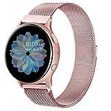 Oumida Bracelet Compatible avec Samsung Galaxy Watch Active2/Active, 20mm Bracelet Montre en Acier Inoxydable Tissé pour Samsung Galaxy Watch Active/Galaxy Watch Active2/Gear S2 Classic (Rose, 20mm)