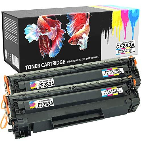 Prestige Cartridge Compatibles CF283A Cartuchos de Tóner Láser para HP LaserJet Pro MFP M125a, M125nw, M125rnw, M126a, M126nw, M127fn, M127fp, M127fw, M128fn, M128fp, M128fw Impresoras - NEGRO, 2-PACK