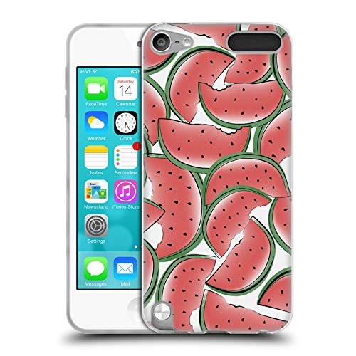 Head Case Designs Officially Licensed Martina Illustration Watermelons Summer Patterns Soft Gel Case Compatible with Apple iPod Touch 5G 5th Gen