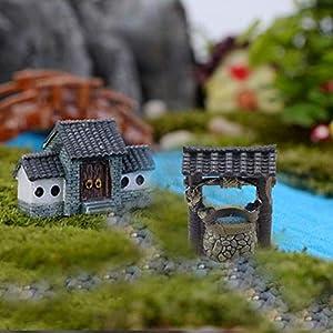 oddier miniature fairy garden well terrarium fairy wishing well fairy garden decor accessory fish tank decoration