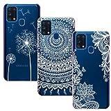 BAOWEI 3-Stück für Samsung Galaxy M31 Hülle, Transparent