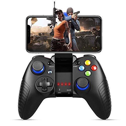 Aiyoudemutou Gamepad Gaming Controller Wireless 4.0 Gamepad Controlador de Juego móvil Perfecto for PUBG y Fotnite y más, Compatible con iOS Android Controlador Gamepad