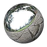 Amuzocity Bola Flotante del Globo de La Mirada del Espejo del Ornamento del Jardín de La Esfera del Acero Inoxidable - plata5