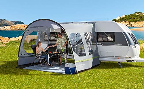 BERGER Sonnenvordach Sigma II Deluxe Sonnenschutz Vordach Sichtschutz Schattenspender Zelt Dach grau