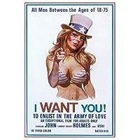 私はあなたが欲しいです!愛の軍隊に参加するには映画の絵画キャンバスのポスターリビングルームの装飾のための壁の芸術の写真キャンバスに印刷50x70cmフレームなし