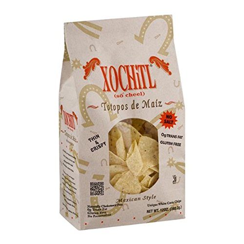 Xochitl No Salt Corn Tortilla Chips 12 oz (Pack of 3)