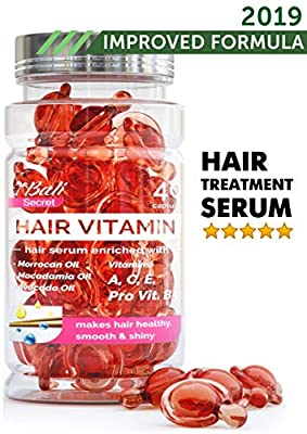 Hair Treatment Serum by Bali Secret - 2019 Improved Formula - No Need to Rinse - with Argan Macadamia Avocado Oils - Vitamins A C E Pro Vitamin B5 - Best Women Hair Oil Conditioner for All Hair Types
