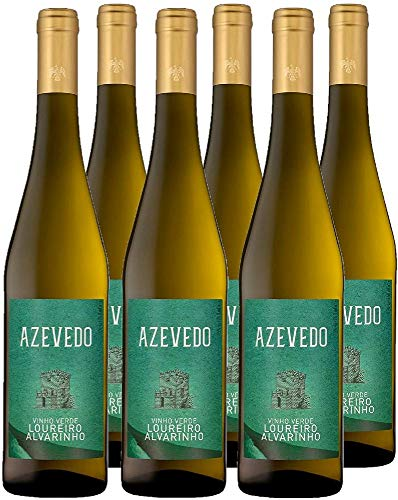 Vino Blanco Azevedo (DOC Vinho Verde) - 6 botellas de 750 ml - Total: 4500 ml