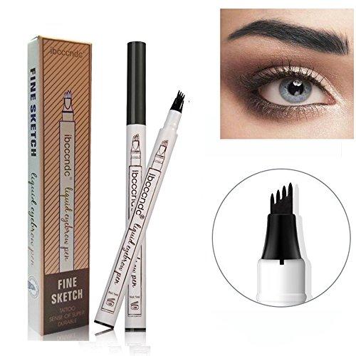 ROMANTIC BEAR Tatouage Crayon à Sourcils Avec 4 Conseils,Sourcils Gel,Eyebrows Gel,Sourcils 3d Brow Tattoo,Imperméable,Smudge-Proof (3pcs)