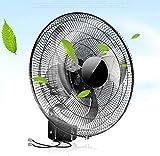 YZPDD Ventilador de Montaje en Pared, 18 Pulgadas, Ventilador de Pared Tranquilo para el hogar/Control Remoto Ventilador de Ahorro de energía, 5 Cuchillas, Negro, para Industrial, Comercial
