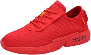 Waymine Men's Sneakers Breathable Mesh Running Shoes Sport Shoes Comfortable Solid Outdoor Footwear Basketball Shoes