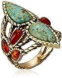 Barse Bronze and Genuine Stone Ring, Size 7