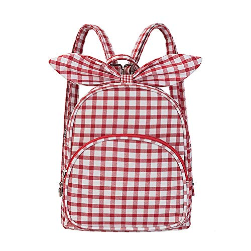 Chitaii. Mochila pequeña para bebé, mochila escolar, bolsa de ocio para niña, bolsa de viaje portátil para guardería, diseño de cuadros, rojo, 18 * 12 * 22