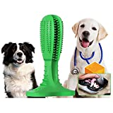 Dog Chew Toothbrush, Upgraded Natural Rubber Dog Brushing Stick Soft Puppy Chew Toy