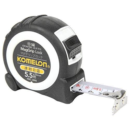 コメロン コンベックス マググリップロック 連続目盛 テープ幅 25mm 5.5m KMC-38RB