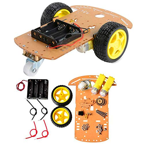 AptoFun 2WD Motor Smart Car Chassis for Arduino- with 2 Gear Motor and Battery Box