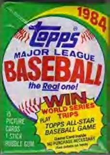 Lot of 3 1984 Topps Baseball Wax Packs (45 Cards Total) Possible Mattingly, Strawberry Rookie Cards