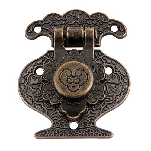Gaodpz 37x46mm Estuche de Madera Antiguo Hanp Hardware Hardware Vintage Decorativo Lock Lock Lock Hebilla for joyería Caja de Madera Cajón