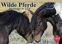 Wilde Pferde. Mustangs in USA (Tischkalender 2022 DIN A5 quer): Die Mustangs der USA in Wyoming und Utah (Geburtstagskalender, 14 Seiten )