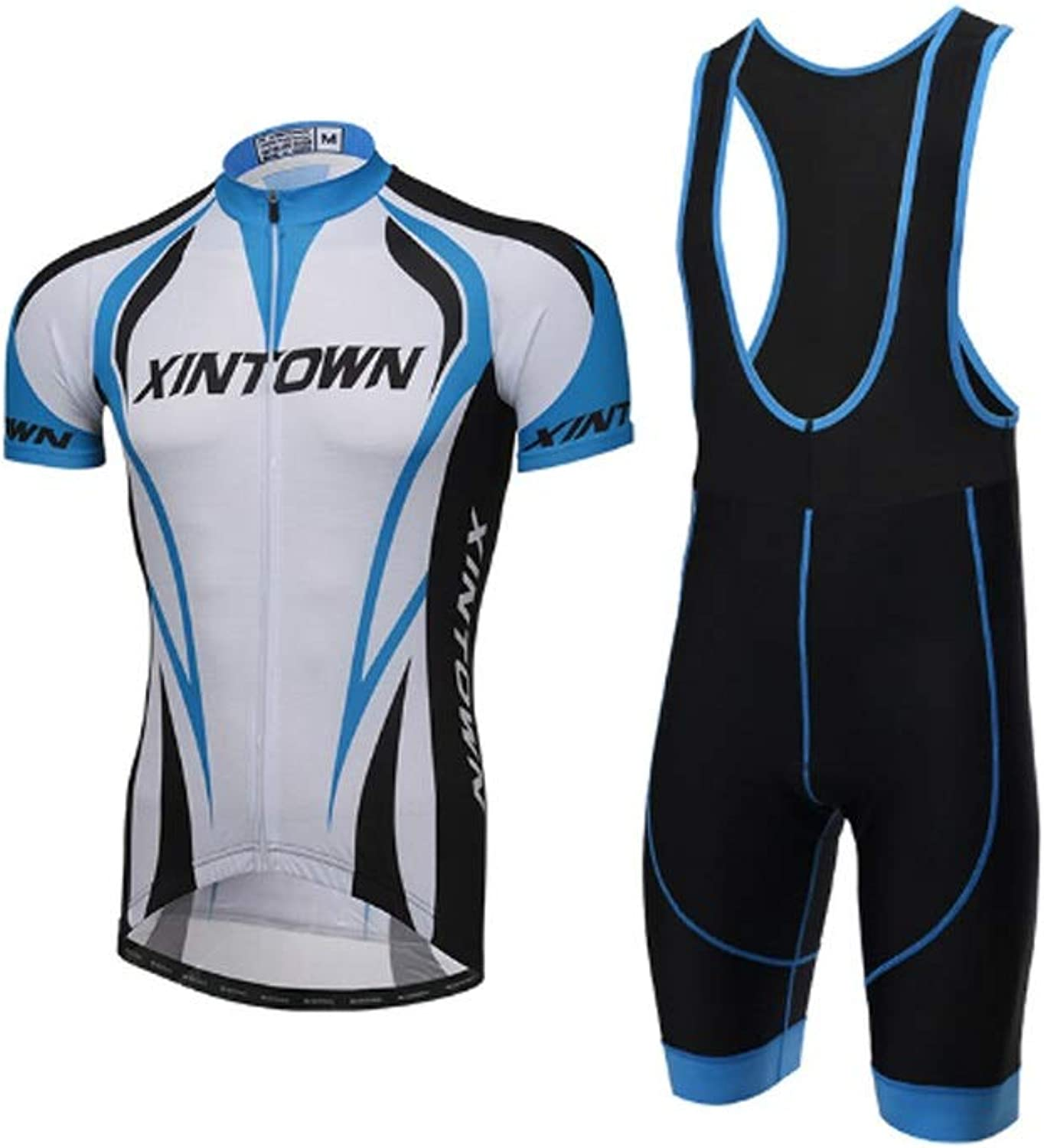 Men's Short Sleeve Breathable Cycling Jersey Set 3D Padded Shorts Sportswear Suit Set Breathable Quick Dry