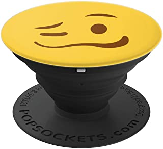Woozy Face New Emoji Funny Emoji Face Yellow - PopSockets Grip and Stand for Phones and Tablets