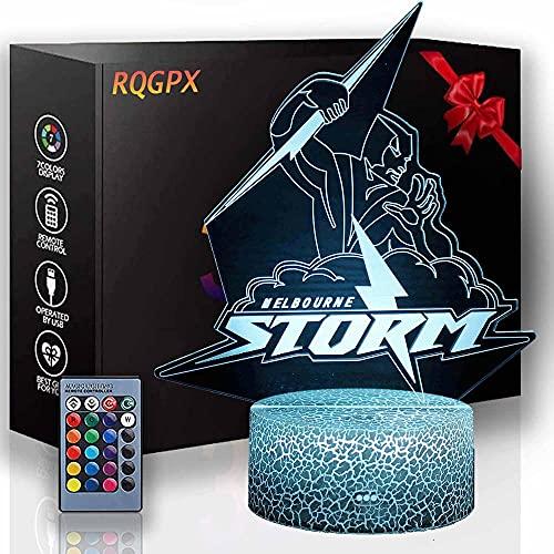 Lámpara de ilusión 3D Super Hero Luz de noche al lado de la lámpara de mesa 16 colores cambio automático interruptor táctil escritorio regalo cumpleaños con control remoto