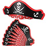 XYDZ Cappelli da Pirata, 12 Confezioni Cappelli da Pirata Cappelli da Festa in Cartone Cappelli da Pirata per Feste di Compleanno di Halloween