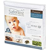 SafeRest Premium Hypoallergenic Waterproof Certified Bed Bug Proof Crib Mattress Encasement - Vinyl, PVC and Phthalate Free - (52' x 28 x 6 in.)