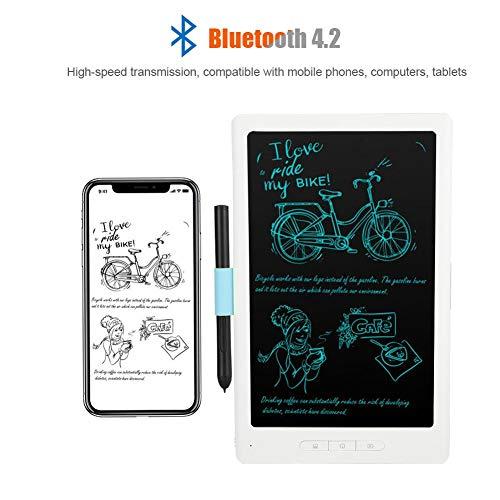 10 inch draagbare grafische tablet 8192 drukniveaus voor tekenen schilderen, digitale Bluetooth 4.2 tekentablet met capacitieve pen, 30 uur looptijd, compatibel met smartphone-computertablet
