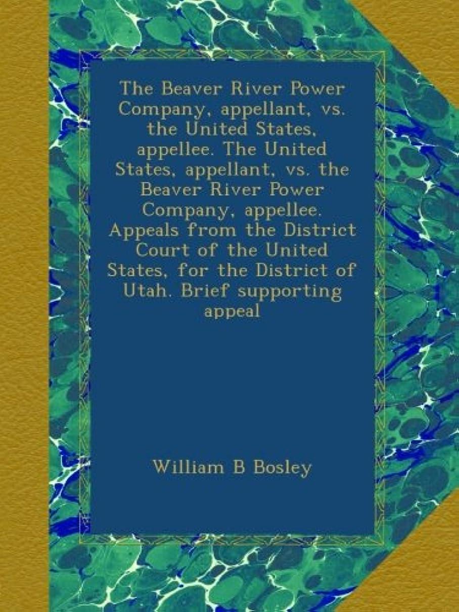 防腐剤歯科医気性The Beaver River Power Company, appellant, vs. the United States, appellee. The United States, appellant, vs. the Beaver River Power Company, appellee. Appeals from the District Court of the United States, for the District of Utah. Brief supporting appeal