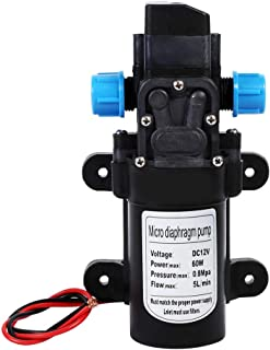 Delaman 12 Volt Diaphragm Pump, 12V DC Self-Priming Water Pump, High Pressure 116Psi Self-Priming Caravan for Camper Marin...