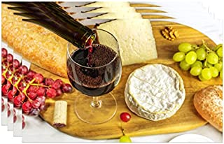 Dainty Home Placemat, Cheese/Wine