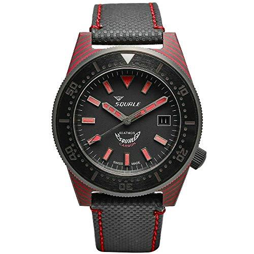 SQUALE 1521 T183 Carbon 60 Atmos Men's Diver 600M Watch
