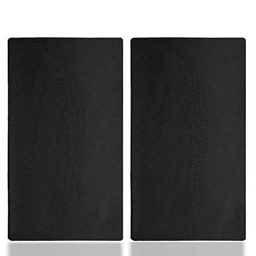 Genrics 2PCS Tappetino Antiscivolo Auto Cruscotto Anti-Scivolo Stretta Tremendamente Forte Resistenti a Temperature Cellulari Antiscivolo Mat Cruscotto Griglia Scivolo per Telefoni Cellulari Occhiali