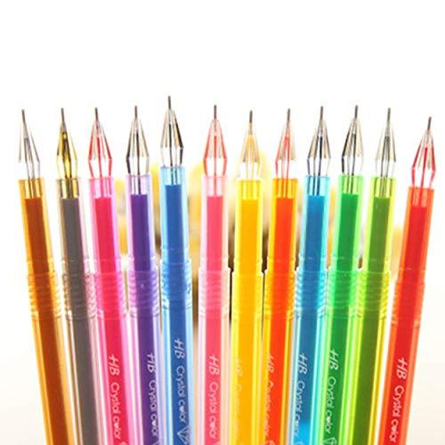 Lorenlli Tragbarer Roller Ball Gel Pen zum Schreiben von Unterschriften 0,5 mm Kugelschreiber Universal Stationery Office School Supplies