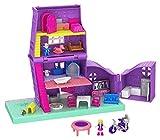 Polly Pocket Pollyville La Maison de Polly, 2 mini-figurines Polly et Paxton, accessoires et autocollants, jouet enfant, édition 2019, GFP42