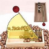 Pecan Cracker, Macadamia Nutcracker Nut CrackerTongs, Adjustable Heavy Duty Manual Tool Machine for Macadamia Shell Peeling with Handle for Walnuts Chestnuts Pecans Hazelnuts Almonds