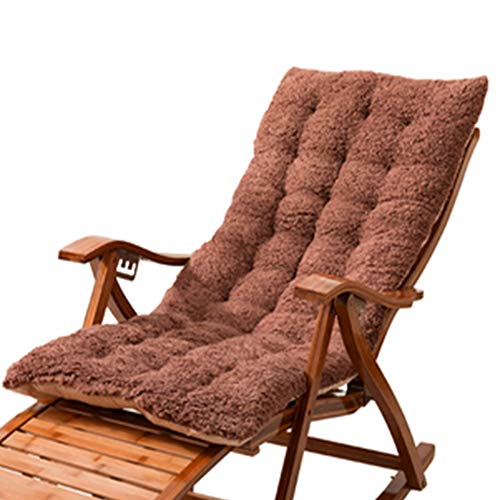 VIVOCFan Recliner Rocking Chair Cushion,Sustainable Thick Lounger Cushion,with Ties Universal Seat Cushion Pad,Washable Garden Chair Cushion,No Chair D 125x48cm(49x19inch)