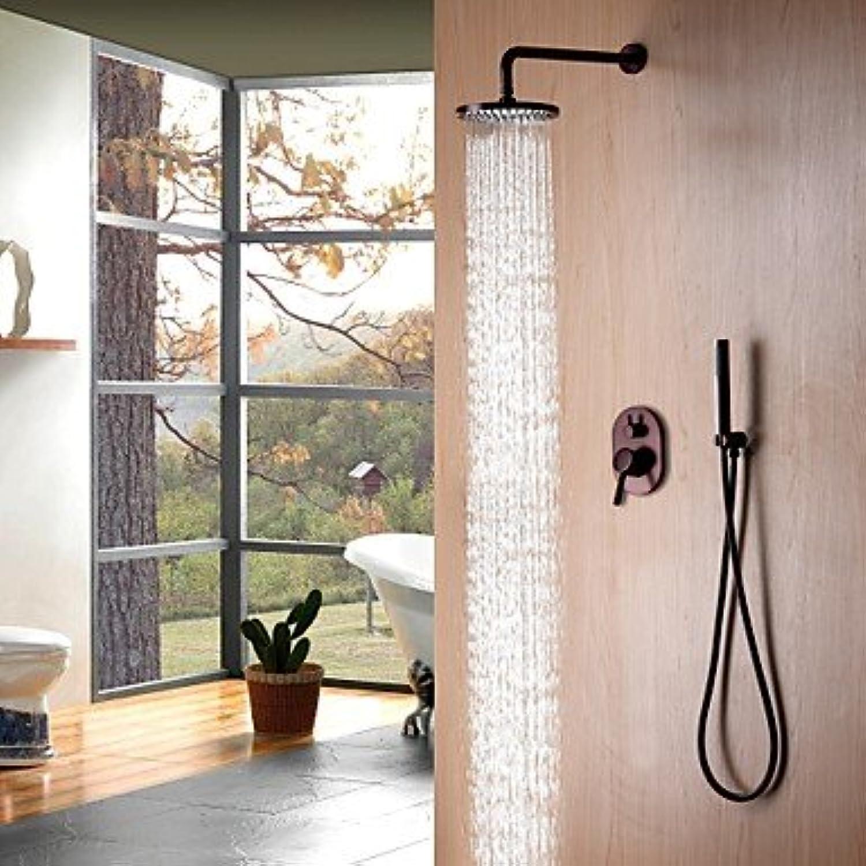 Moderne Einfach Moderner Stil Wandmontage Regendusche Wand with Keramisches Ventil Einhand Drei Lcher for l-riebe Bronze,