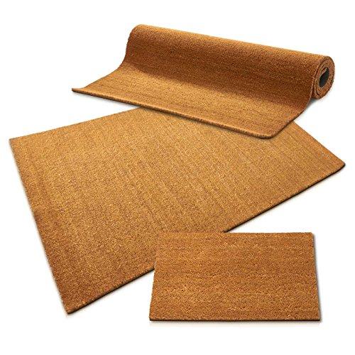 casa pura Kokos Fußmatte | Kokosmatte Meterware, auch für großflächige Eingänge | Kokosfaser Natur | viele Höhen und Größen (24mm, 40x60cm)