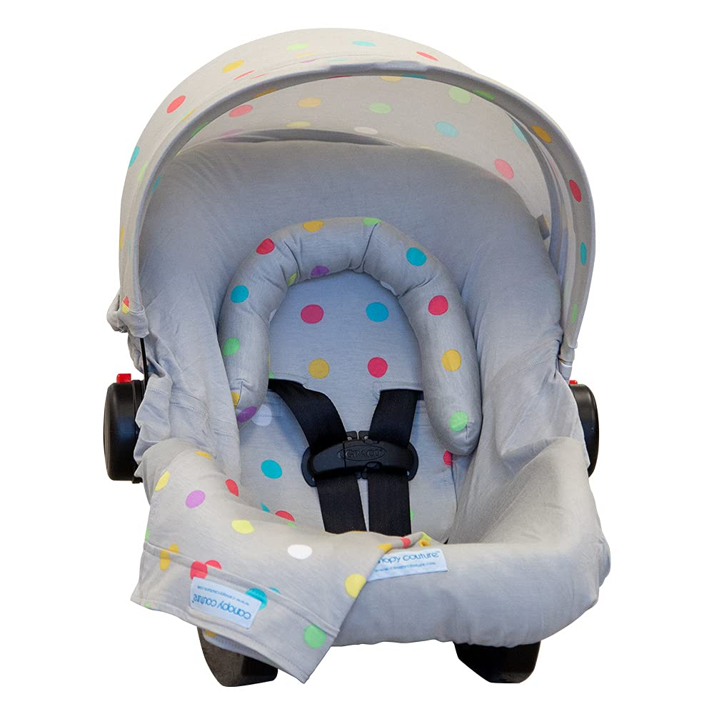 Carseat Canopy Whole Caboodle 5 Piece Set, Soft Jersey Stretch Material - Cullen