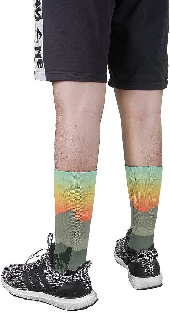 Mens Womens Vinga Vintage Travel Poster Dress Socks Custom Casual Creative Crew Socks Gift