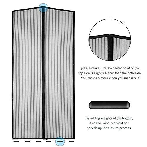 Llpeng Magnetische Fliegengitter Tür mit Heavy Duty Magnete Fenster-Schutz Netz-Ineinander greifen Vorhang Hände frei for Keeping Out Insekten Mosquito Bug for Französisch Türen/Glasschiebetüren