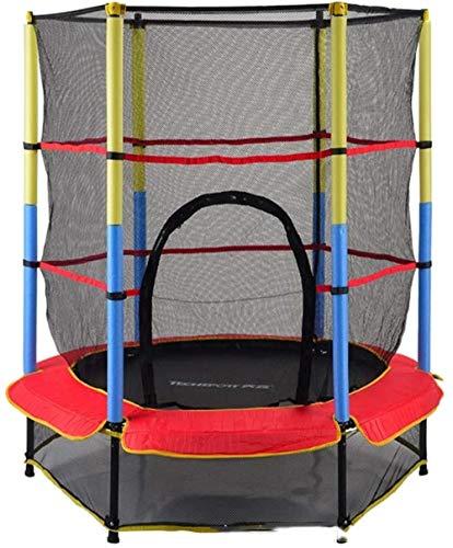YANGYUAN Trampolín 55 Pulgadas (140 cm) Redes de Interior/Exterior Trampolín Inicio niños con protección de Seguridad y duraderos