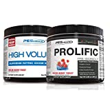 PEScience High Volume + Prolific Pre-Workout Stack, Powerful Nitric Oxide & Energy Supplement Bundle, Melon Berry
