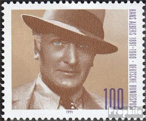 Prophila Collection BRD (BR.Deutschland) 1561 (kompl.Ausgabe) 1991 Hans Albers (Briefmarken für Sammler) Prominente / Film / Theater