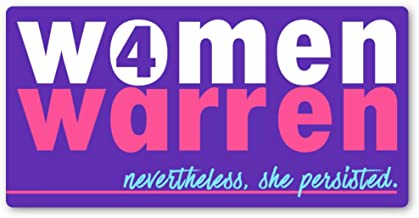 Crafted-Brand Elizabeth Warren Sticker – Easily Removable Vinyl Decal with A Clever Anti-Trump Twist (3.75 X 7.5 Inch)