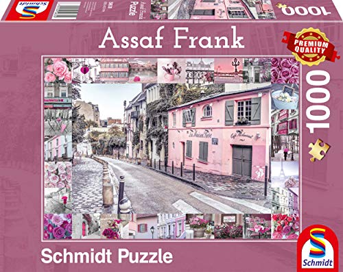 Schmidt Spiele Puzzle 59630 Assaf Frank, Romantische Reise, 1000 Teile Puzzle, bunt