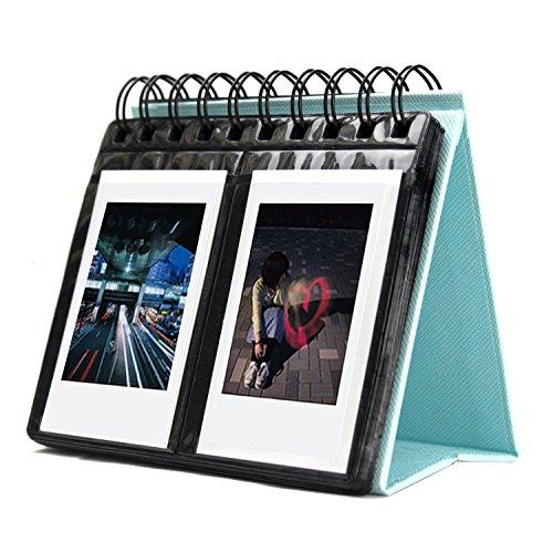 SAIKA 68 Taschenbuch-Album Polaroid Kalender-Fotoalbum für Instax Mini 25 26 70 7s 90 / Polaroid Snap/Snap Touch / Z2300 / SocialMatic Instant-Kameras(Blau)